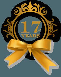 17 Years Rosette