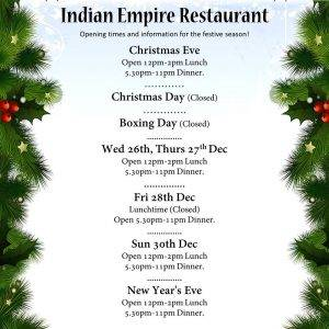 indian empire christmas lunch